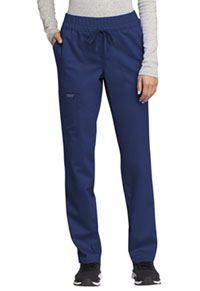 Cherokee Workwear Mid Rise Tapered Leg Drawstring Pant Navy (WW105-NAV)