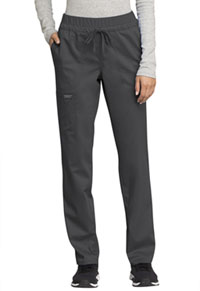 Cherokee Workwear Mid Rise Tapered Leg Drawstring Pant Pewter (WW105-PWT)