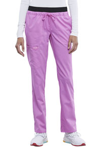 Cherokee Workwear Mid Rise Tapered Leg Drawstring Pant Sweet Berry (WW105-SVBY)
