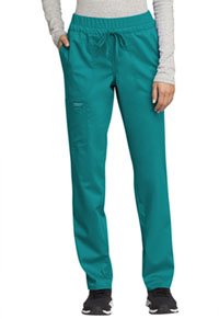 Cherokee Workwear Mid Rise Tapered Leg Drawstring Pant Teal Blue (WW105-TLB)