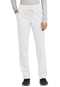 WW Revolution Mid Rise Tapered Leg Drawstring Pant (WW105-WHT) (WW105-WHT)