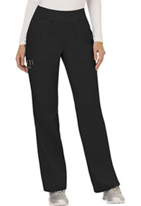 Mid Rise Straight Leg Pull-on Pant (WW110P-BLK)