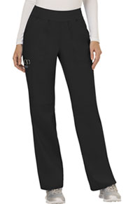 Cherokee Workwear Mid Rise Straight Leg Pull-on Pant Black (WW110-BLK)