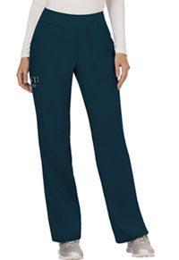 Cherokee Workwear Mid Rise Straight Leg Pull-on Pant Caribbean Blue (WW110-CAR)
