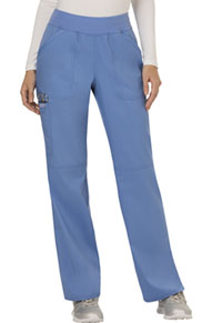 Cherokee Workwear Mid Rise Straight Leg Pull-on Pant Ciel Blue (WW110-CIE)