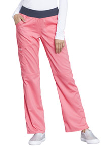 Cherokee Workwear Mid Rise Straight Leg Pull-on Pant Blushing Coral (WW110-CRIC)