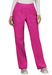 Cherokee Workwear Mid Rise Straight Leg Pull-on Pant Electric Pink (WW110-EEPI)