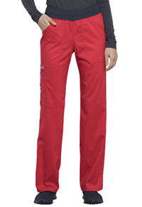 Cherokee Workwear Mid Rise Straight Leg Pull-on Pant Hot Tomato (WW110-HOTT)