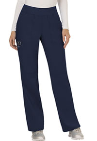 Cherokee Workwear Mid Rise Straight Leg Pull-on Pant Navy (WW110-NAV)