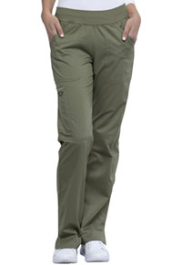 Cherokee Workwear Mid Rise Straight Leg Pull-on Pant Olive (WW110-OLV)