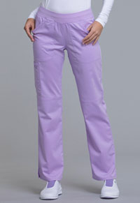 Cherokee Workwear Mid Rise Straight Leg Pull-on Pant Oh So Orchid (WW110-OSOR)