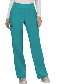 Cherokee Workwear Mid Rise Straight Leg Pull-on Pant Teal Blue (WW110-TLB)