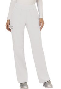 Cherokee Workwear Mid Rise Straight Leg Pull-on Pant White (WW110-WHT)