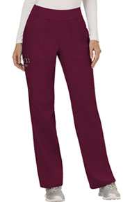 Cherokee Workwear Mid Rise Straight Leg Pull-on Pant Wine (WW110-WIN)