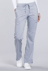 Mid Rise Moderate Flare Drawstring Pant (WW120T-GRY)