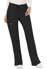 Mid Rise Moderate Flare Drawstring Pant (WW120-BLK)