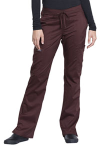 Cherokee Workwear Mid Rise Moderate Flare Drawstring Pant Espresso (WW120-ESP)