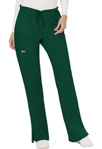 Cherokee Workwear Mid Rise Moderate Flare Drawstring Pant Hunter Green (WW120-HUN)