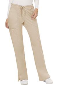 Cherokee Workwear Mid Rise Moderate Flare Drawstring Pant Khaki (WW120-KAK)
