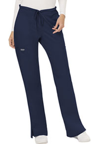 Cherokee Workwear Mid Rise Moderate Flare Drawstring Pant Navy (WW120-NAV)