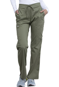 WW Revolution Mid Rise Moderate Flare Drawstring Pant (WW120-OLV) (WW120-OLV)