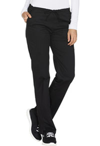 Mid Rise Straight Leg Drawstring Pant (WW130P-BLKW)