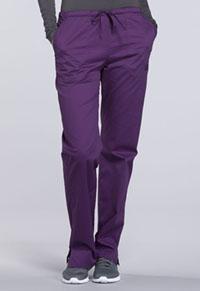 Mid Rise Straight Leg Drawstring Pant (WW130P-EGGW)