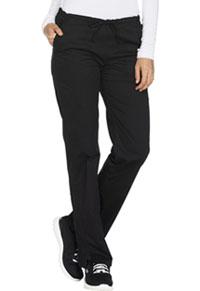 Mid Rise Straight Leg Drawstring Pant (WW130T-BLKW)