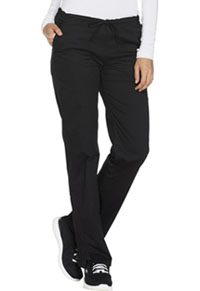 WW Core Stretch Mid Rise Straight Leg Drawstring Pant (WW130-BLKW) (WW130-BLKW)