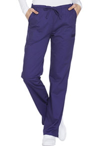 Cherokee Workwear Mid Rise Straight Leg Drawstring Pant Grape (WW130-GRPW)