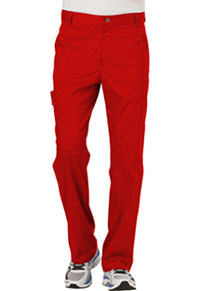 Cherokee Workwear Men's Fly Front Pant Red (WW140-RED)
