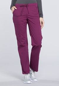 Mid Rise Straight Leg Drawstring Pant (WW160P-WIN)
