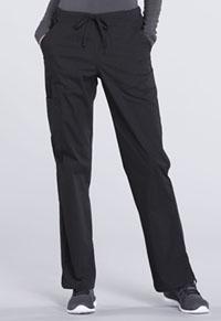 Mid Rise Straight Leg Drawstring Pant (WW160T-BLK)