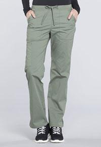 Mid Rise Straight Leg Drawstring Pant (WW160T-OLV)