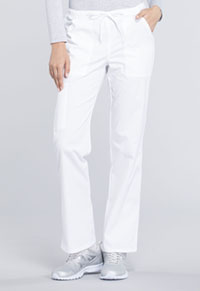 Mid Rise Straight Leg Drawstring Pant (WW160T-WHT)