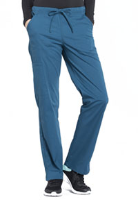 Cherokee Workwear Mid Rise Straight Leg Drawstring Pant Caribbean Blue (WW160-CAR)