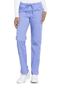 Cherokee Workwear Mid Rise Straight Leg Drawstring Pant Ciel Blue (WW160-CIE)
