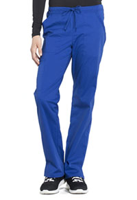 Cherokee Workwear Mid Rise Straight Leg Drawstring Pant Galaxy Blue (WW160-GAB)