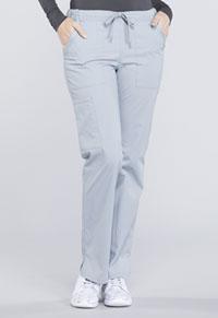 Cherokee Workwear Mid Rise Straight Leg Drawstring Pant Grey (WW160-GRY)