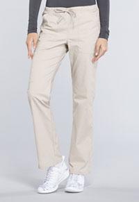 Cherokee Workwear Mid Rise Straight Leg Drawstring Pant Khaki (WW160-KAK)