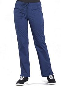 Cherokee Workwear Mid Rise Straight Leg Drawstring Pant Navy (WW160-NAV)
