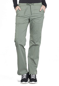 Cherokee Workwear Mid Rise Straight Leg Drawstring Pant Olive (WW160-OLV)