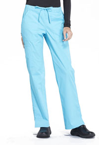 Cherokee Workwear Mid Rise Straight Leg Drawstring Pant Turquoise (WW160-TRQ)