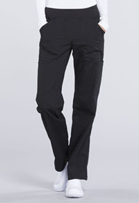 Mid Rise Straight Leg Pull-on Cargo Pant (WW170T-BLK)