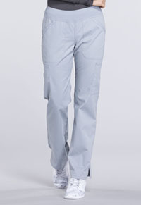 Mid Rise Straight Leg Pull-on Cargo Pant (WW170T-GRY)