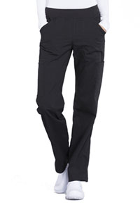 Cherokee Workwear Mid Rise Straight Leg Pull-on Cargo Pant Black (WW170-BLK)