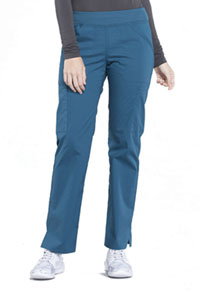Cherokee Workwear Mid Rise Straight Leg Pull-on Cargo Pant Caribbean Blue (WW170-CAR)