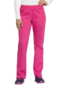 Cherokee Workwear Mid Rise Straight Leg Pull-on Cargo Pant Electric Pink (WW170-EEPI)