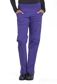 Cherokee Workwear Mid Rise Straight Leg Pull-on Cargo Pant Grape (WW170-GRP)