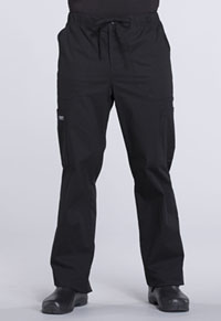 Men's Tapered Leg Drawstring Cargo Pant (WW190T-BLK)